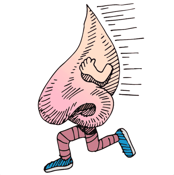 Loopneus en niet verkouden